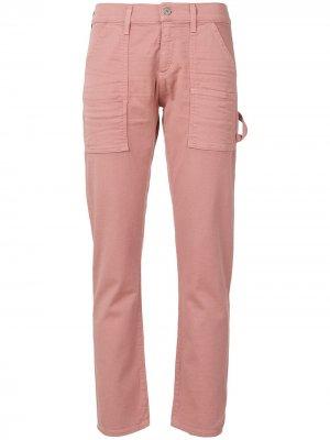 Укороченные брюки узкого кроя Citizens of Humanity. Цвет: розовый