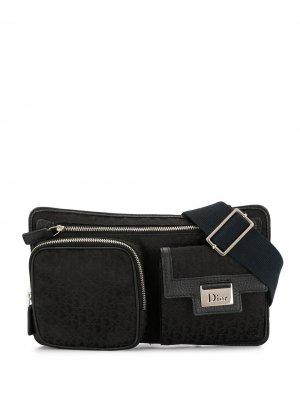 Поясная сумка Street Chic с узором Trotter Christian Dior. Цвет: черный
