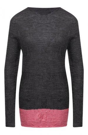 Шерстяной пуловер Yohji Yamamoto. Цвет: серый