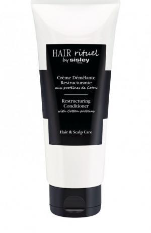 Восстанавливающий кондиционер для волос с протеинами хлопка Hair Rituel by Sisley. Цвет: бесцветный