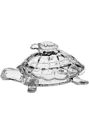 Доза Черепаха, 26,5 см CRYSTAL BOHEMIA. Цвет: белый