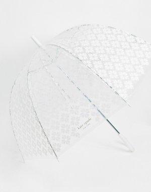 Прозрачный зонт с цветочным принтом -Очистить Kate Spade