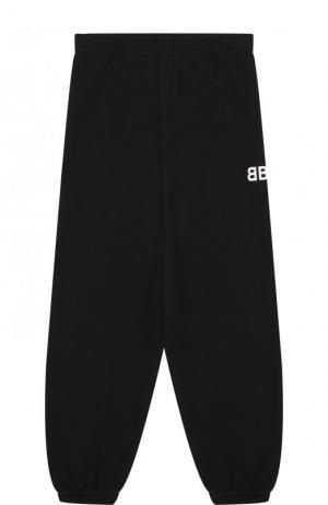 Хлопковые джоггеры с логотипом бренда Balenciaga. Цвет: черный