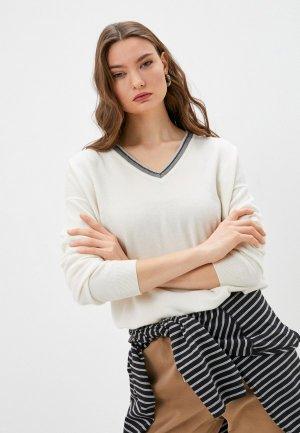 Пуловер Brunello Cucinelli. Цвет: белый