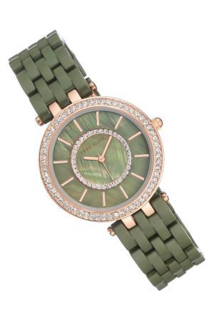 Часы наручные Anne Klein. Цвет: зеленый, розовый