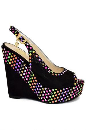 Туфли открытые Ilasio Renzoni. Цвет: черный, отделка