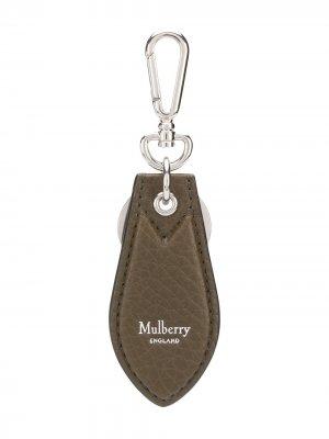 Брелок с логотипом Mulberry. Цвет: коричневый