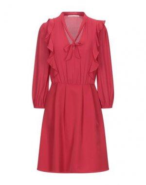 Короткое платье GAUDÌ. Цвет: красный