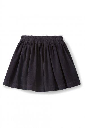 Темно-синяя хлопковая юбка Suzon1 Bonpoint. Цвет: синий