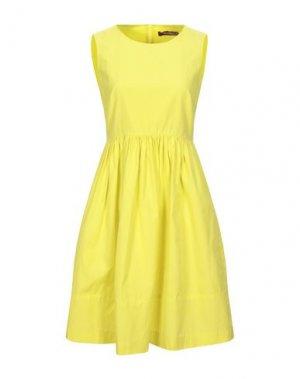 Короткое платье MAX MARA. Цвет: желтый