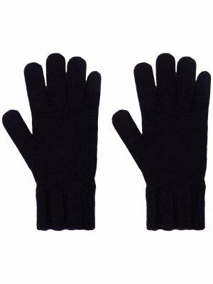 Кашемировые перчатки Woolrich. Цвет: синий