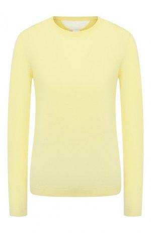 Пуловер из смеси шерсти и шелка REDVALENTINO. Цвет: желтый