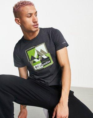 Черная футболка с графическим принтом Alpine Way-Черный цвет Columbia