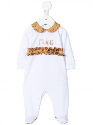 Пижама 1st Class с оборками Alviero Martini Kids. Цвет: белый