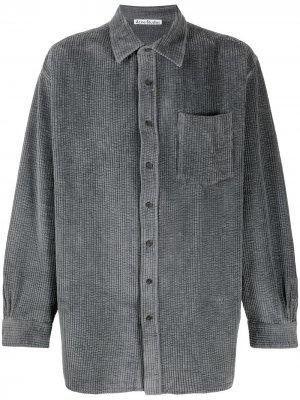 Вельветовая рубашка оверсайз Acne Studios. Цвет: серый