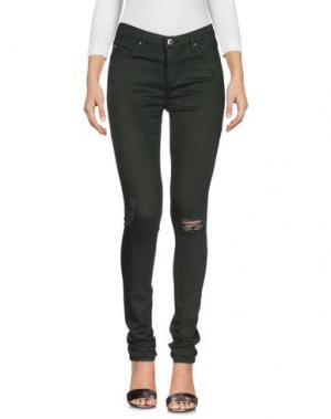 Джинсовые брюки AG JEANS. Цвет: зеленый