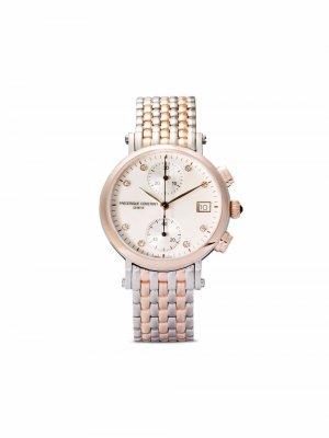 Наручные часы Classics Quartz Chronograph 34 мм Frédérique Constant. Цвет: белый