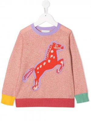 Джемпер вязки интарсия Stella McCartney Kids. Цвет: розовый