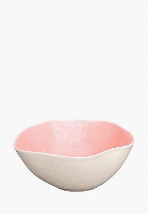 Салатник Elan Gallery. Цвет: розовый
