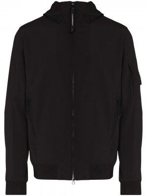 Куртка на молнии с капюшоном C.P. Company. Цвет: черный