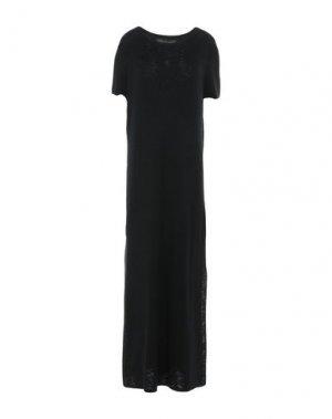 Длинное платье 360SWEATER. Цвет: черный