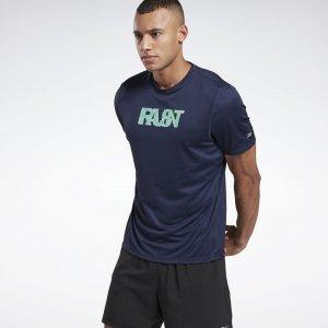 Спортивная футболка Run Essentials Fast Reebok. Цвет: vector navy