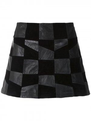 Кожаная юбка-шорты Raise Andrea Bogosian. Цвет: черный