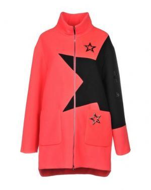 Пальто VDP CLUB. Цвет: коралловый