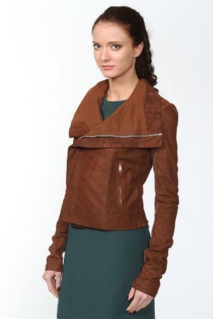 Куртка кожаная Rick Owens. Цвет: коричневый