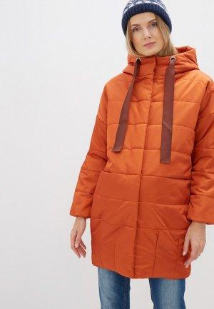 Куртка утепленная Мамуля красотуля ..в ожидании чуда. Цвет: оранжевый