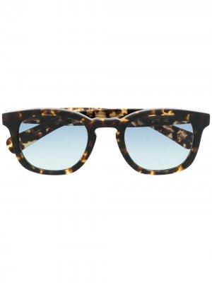 Солнцезащитные очки Kinney черепаховой расцветки Garrett Leight. Цвет: коричневый