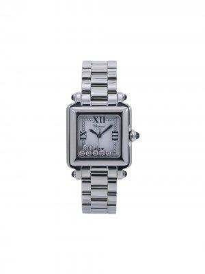 Наручные часы pre-owned Happy Sport 27 мм Chopard. Цвет: белый