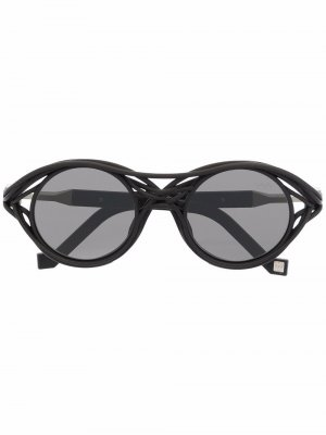 Солнцезащитные очки CL0015 в круглой оправе из коллаборации с Kengo Kuma VAVA Eyewear. Цвет: черный