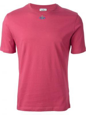 Футболки и жилеты Vivienne Westwood. Цвет: розовый и фиолетовый