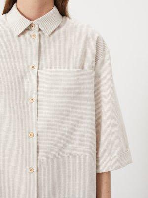 Платье-рубашка Bram с большим карманом GATE31. Цвет: светло-бежевый