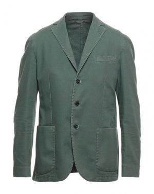 Пиджак LUIGI BIANCHI ROUGH. Цвет: зеленый