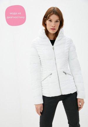 Куртка утепленная Guess Jeans. Цвет: белый