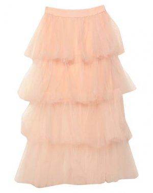 Длинная юбка ANIYE BY. Цвет: светло-розовый
