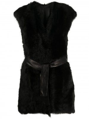 Reversible tie-waist gilet Drome. Цвет: черный