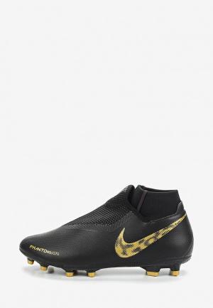 Бутсы Nike PHANTOMVSN ACADEMY DYNAMIC FIT FG/MG MULTI-GROUND FOOTBALL BOOT. Цвет: черный