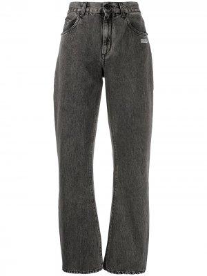 Широкие джинсы прямого кроя Off-White. Цвет: серый