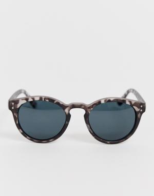 Серые круглые солнцезащитные очки AJ Morgan. Цвет: серый