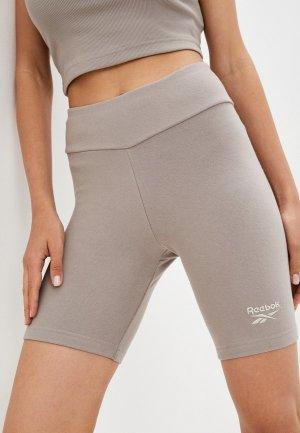 Шорты спортивные Reebok Classic CL WDE LEGGING SHORTS. Цвет: серый