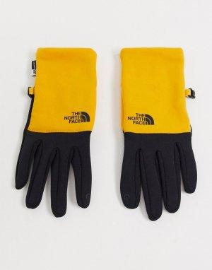 Желтые перчатки из переработанного полиэстера Etip-Желтый The North Face