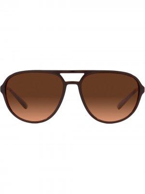 Солнцезащитные очки-авиаторы DG Pattern Dolce & Gabbana Eyewear. Цвет: коричневый