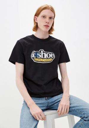 Футболка DC Shoes FISHEYEWRLDTSS M TEES KVJ0. Цвет: черный