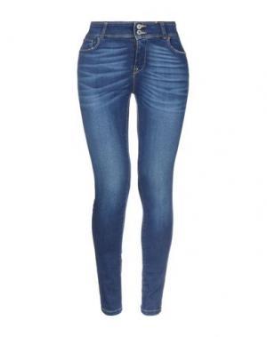 Джинсовые брюки ANNARITA N. Цвет: синий