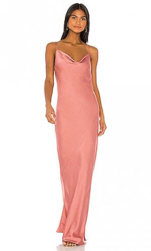 Платье-комбинация luxe bias Shona Joy. Цвет: розовый
