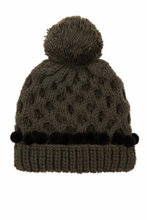 Шерстяная шапка 7II. Цвет: зеленый