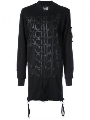 Shocked 2 Death Extended bomber jacket Haculla. Цвет: чёрный
